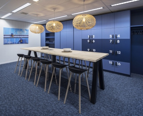Onderwijsinstelling kantoorinrichting lockers